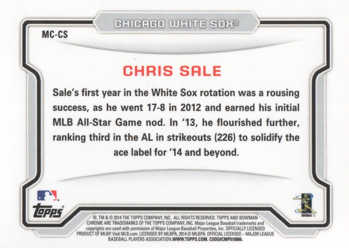 Your Choice *GOTBASEBALLCARDS 2014 Bowman Chrome Mini Baseball #1-250