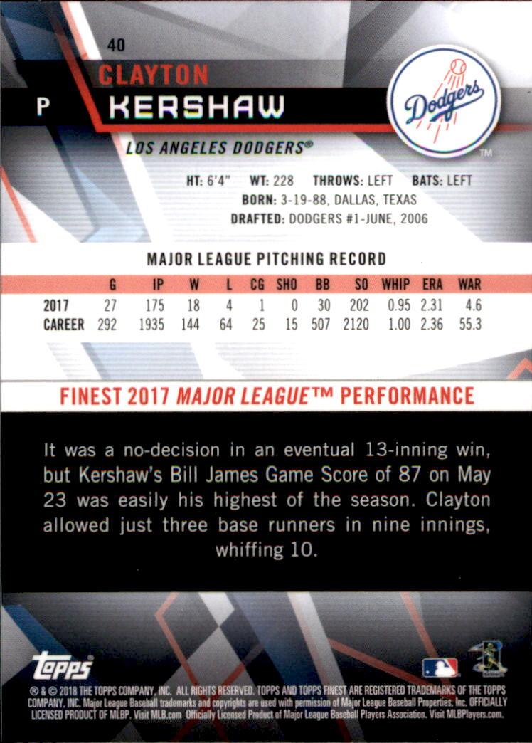 Baseball 2018 Finest Topps