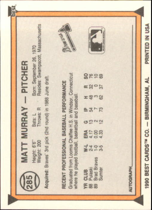 A4162 - You Pick 10+ FREE SHIP 1990 Best BB Minor League Card #s 201-324