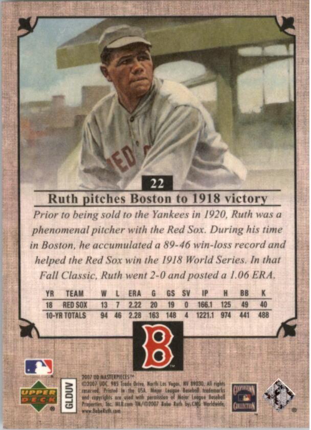 Pick Card From List Asst Babe Ruth Baseball Cards Lot