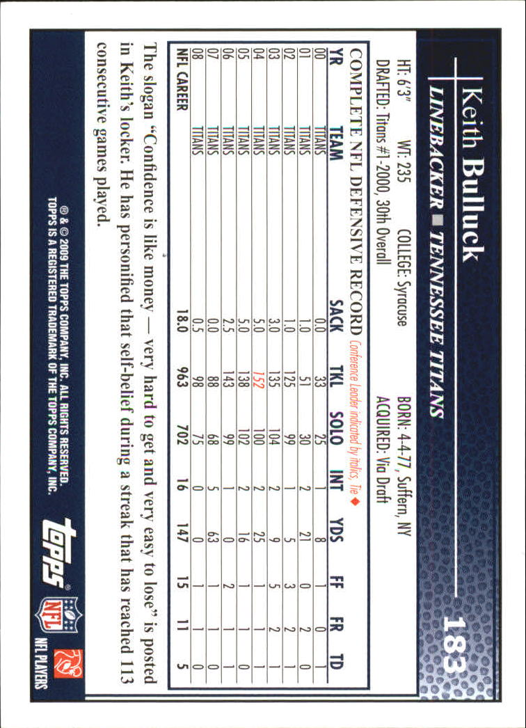 2009 Topps Football Card #s 1-250 +Rookies - You Pick 10+ FREE SHIP A1800