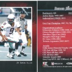 Damon Allen - classic player (Front & Back)