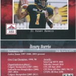 Henry Burris - Classic player (Front & Back)