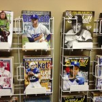 Olds' always-handy back issues of BSCM and Beckett Baseball.