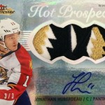 2013-14-NHL-Fleer-Showcase-Jumbo-White-Hot-Patch-Jonathan-Huberdeau