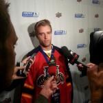 Aaron Ekblad interviewed by the media