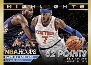 Panini America 2014-15 NBA Hoops Basketball Carmelo Anthony