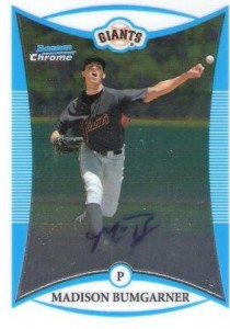October 30 - Bumgarner 08 Bowman Chrome
