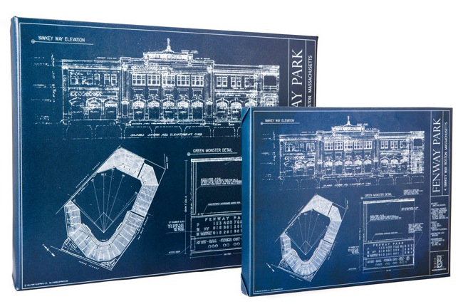 Ballpark blueprints offer technical look at game beckett news presently there are 34 prints available 17 baseball stadiums two american league and national league composite pieces showing all stadiums eight college malvernweather Choice Image
