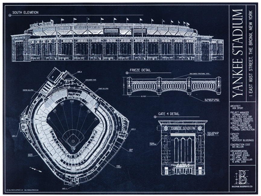 Ballpark blueprints offer technical look at game beckett news yankeestadiumblueprintwebres sportsauthorityfieldwebres pncparkunframedwebres nationalleagueblackframewebres jordanharestadiumblackframewebres malvernweather Image collections