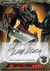 Sentinel Prime Nimoy Autograph