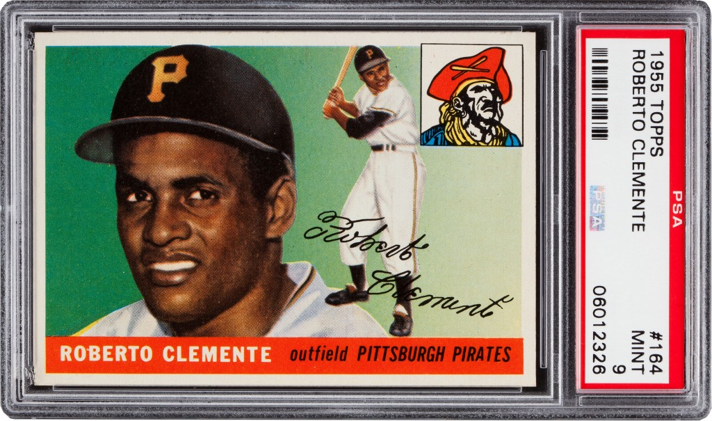 1955 Topps Roberto Clemente #164 PSA Mint 9 -$310,700 Image courtesy Heritage Auctions, HA