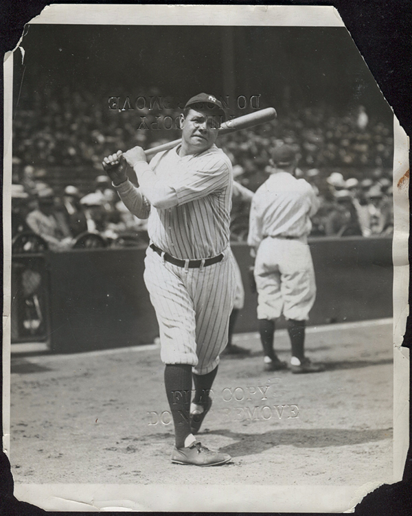 1927 Charles Conlin Babe Ruth Photo 1933 Goudey