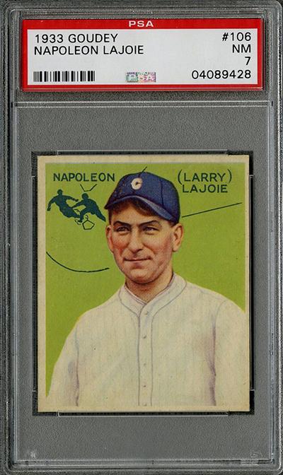 1933 Goudey Napoleon Lajoie PSA 7
