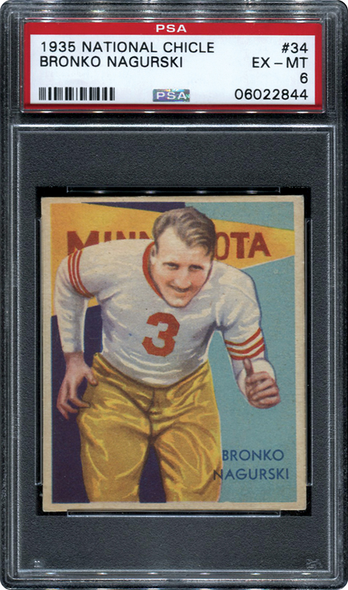 1935 National Chicle Bronko Nagurski PSA 6