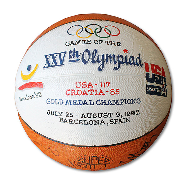 1992 Dream Team Game-Used Olympic Basketball Chuck Daly Close-Up