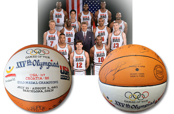 1992 Dream Team Game-Used Olympic Basketball Chuck Daly