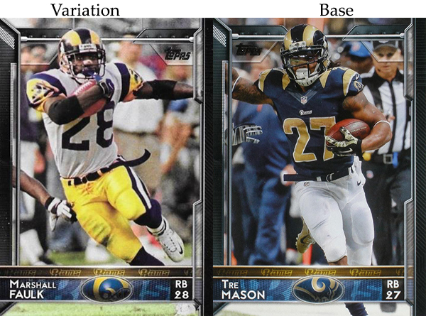 2015 T FB Var 229 Marshall Faulk