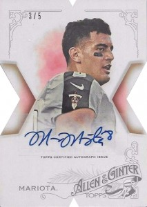 2015 Topps Allen and Ginter Baseball National Die-Cut Autograph Marcus Mariota