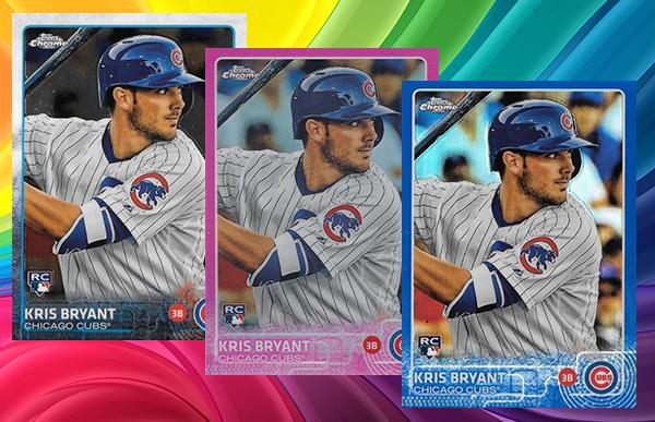 2015 Topps Chrome Baseball Refractor Rainbow copy