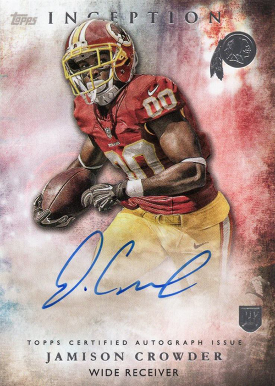 2015 Topps Inception Football Jamison Crowder Autograph 550