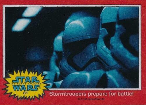 2015 Topps Star Wars Chrome Perspectives 2 Force Awakens 81