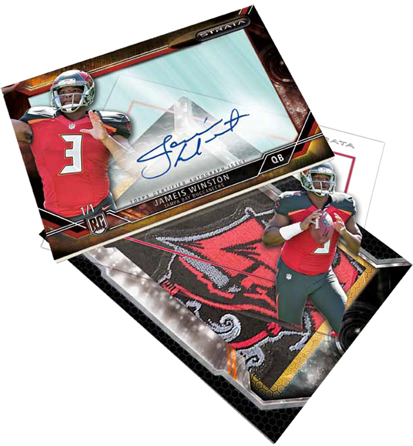 2015 Topps Strata Football Strata Signature Rivet Red