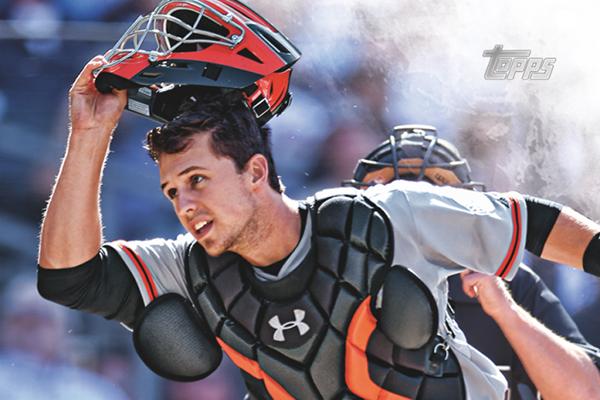 2016 Topps Series 1 Baseball Base Buster Posey Cropped