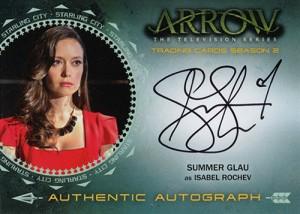Arrow Season 2 Autographs Summer Glau Isabel