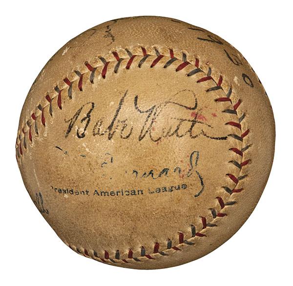 Babe Ruth Home Run 519 Ball
