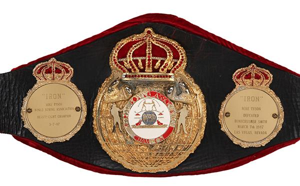 Mike Tyson 1987 WBA Championship Belt