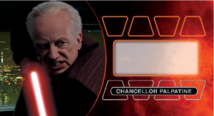 Star Wars Widevision 3D Revenge of the Sith Ian McDiarmid Autograph Mock-Up