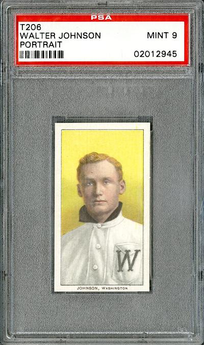 T206 Piedmont Walter Johnson PSA 9