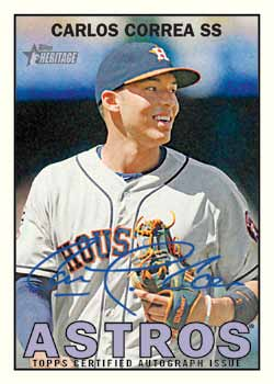 2016 Topps Heritage Baseball Real One Autographs Carlos Correa
