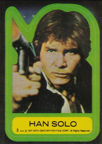 seeing all the 1977 topps star wars stickers bring the memories