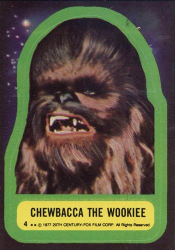 1977 Star Wars Stickers 4 Chewbacca the Wookiee