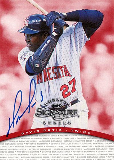 1997 Donruss Signature Series Autographs David Ortiz