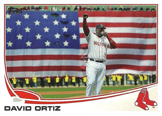 2013 Topps David Ortiz Variation 595