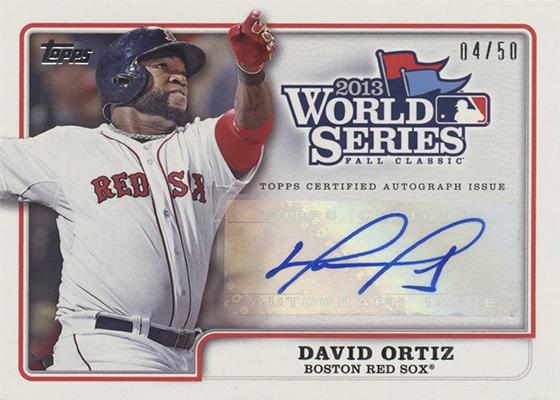2014 Topps World Series Champion Autographs David Ortiz