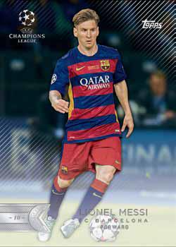 2015-16 Topps UEFA Champions League Showcase Soccer Base Lionel Messi