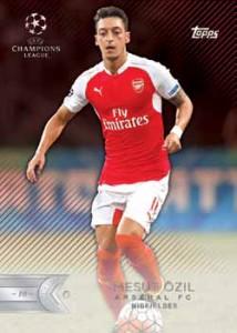 2015-16 Topps UEFA Champions League Showcase Soccer Red Mesut Ozil