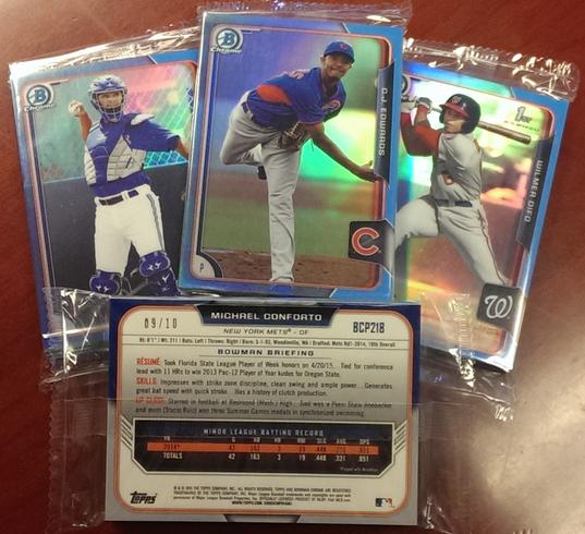 2015 Bowman Chrome Baseball Twitter Blue Refractors copy
