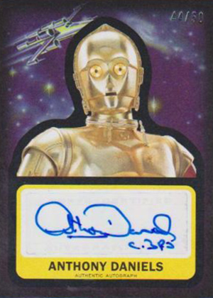 Star Wars Journey to the Force Awakens Autographs Anthony Daniels 50
