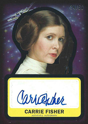 Star Wars Journey to the Force Awakens Autographs Carrie Fisher 50
