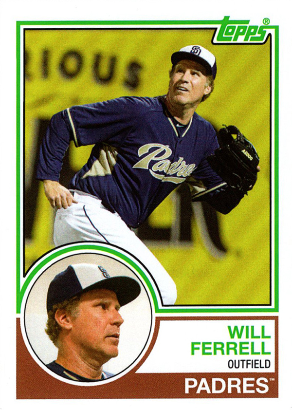 2015 Topps Archives Will Ferrell Variation Padres