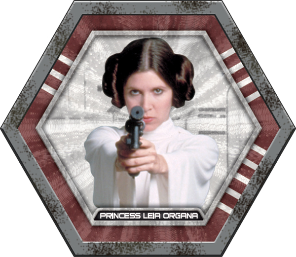 2015 Topps Star Wars Galactic Connexions Battle Damage Princess Leia
