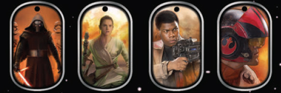 2015 Topps Star Wars The Force Awakens Dog Tags Header