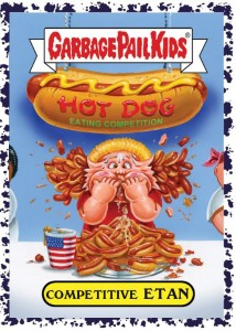 2016 Topps GPK American as Apple Pie in Your Face Bruised Parallel