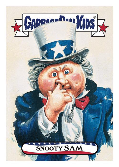 2016 Topps GPK American as Apple Pie in Your Face Snooty Sam