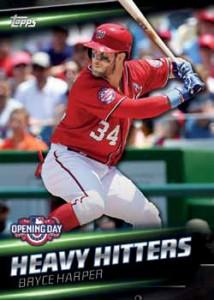 2016 Topps Opening Day Baseball Heavy Hitters